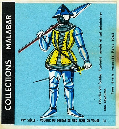 n°31 - Collection Malabar / Costumes Militaires