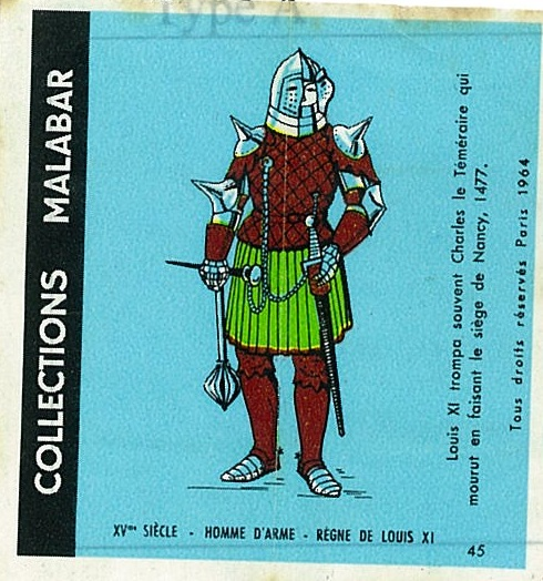 n°45 - Collection Malabar / Costumes Militaires