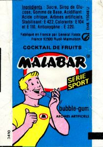 Emballage Malabar 1989 Goût : Cocktail de Fruits