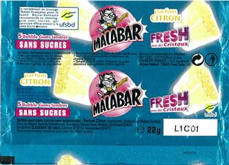 Emballage Malabar 2011 : Pocket Fresh Citron